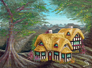 Lorn Tree Art - Cozy Cottage from Arboregal by Dumitru Sandru