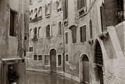 Canal Photos - Cozy Curved Canal Venice by Tom Wurl