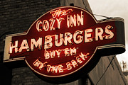 Americana Posters - Cozy Inn Hamburgers Poster by Anthony Ross
