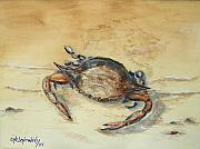 Claw Paintings - Crab by Miroslaw  Chelchowski