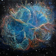 Space Paintings - Crab Nebula by Alizey Khan