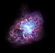 Expanding Light Prints - Crab Nebula Print by Cxcsaof. Seward Et Alnasa