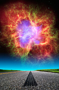 Hubble Space Telescope Views Posters - Crab Nebula Highway Poster by Larry Landolfi