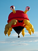 Balloon Fiesta Posters - Crabby Poster by Jim Chamberlain