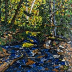 Blue Ridge Parkway Paintings - Crabtree Creek by Micah Mullen