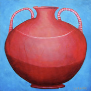 Pot Drawings Metal Prints - Crack Pot Metal Print by Loraine LeBlanc