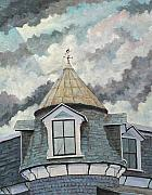 Canadian Artist Painter Painting Originals - Crack The Sky by Richard T Pranke