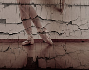 Ballet Slippers Prints - Cracked Ballet Print by Scott Sawyer