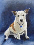 Dog Paintings - Cracker by Janice M Booth