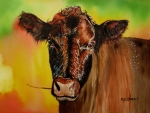 Shoulder Prints - Cracker Moo Print by Maria Barry