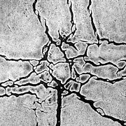 Black And White Paris Metal Prints - Cracks Metal Print by Gerard Hermand