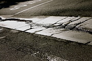 Crosswalk Framed Prints - Cracks in the Pavement Framed Print by Polly Villatuya