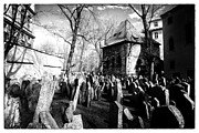 Black And White Prints Prints - Cramped Print by John Rizzuto