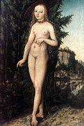 Aphrodite Paintings - Cranach: Aphrodite/venus by Granger