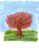 Tree Of Life Pastels - Cranberry Melody by Mary Zimmerman