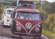 Historic Vehicle Pastels Prints - Cranberry Print by Sharon Poulton