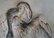 Crane - 2 Print by Tania Baeva