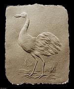 Crane Bird Print by Suhas Tavkar