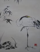 Crane Painting Originals - Crane by Colleen Koranek