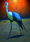 South African Prints - Crane Walk Print by Michael Durst