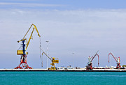 Embark Prints - Cranes and loading equipment. Port of Heraklion. Print by Fernando Barozza