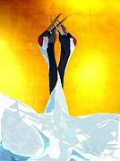 Cranes Print by Ilias Athanasopoulos