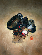 Harley Davidson Paintings - Crank by George Frizzell