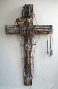 Cross Sculptures - Crank Rescind by Geoffrey Kieran