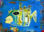 Outsider Art Paintings - Crappie by Ken Law