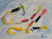 Lures Prints - Crappie Lures Print by Pete Maier