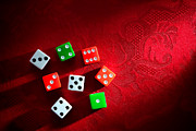 Red Fabric Art - Craps  by Olivier Le Queinec