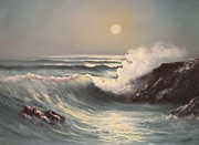Ed Gowen Prints - Crashing Wave Print by Ed Gowen