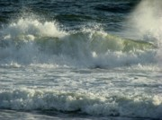 Wave Art Photos - Crashing Wave by Sandy Keeton