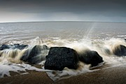 Stephen Clarridge Metal Prints - Crashing waves long exposure  Metal Print by Stephen Clarridge
