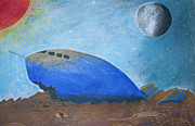 Planet Pastels - Crashlanding by Jose Valeriano