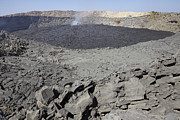 Volcanic Activity Framed Prints - Crater Floor Covered With Basaltic Lava Framed Print by Richard Roscoe
