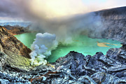 Foggy Day Posters - Crater Ijen Poster by MotHaiBaPhoto Prints
