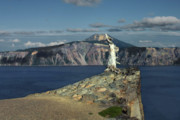 American Landmarks Art - Crater Lake - A Most Sacred Place among the Indians of Southern Oregon by Christine Till