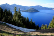 Crater Lake National Park Prints - Crater Lake 12 Print by Carol Groenen