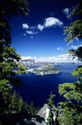 Round Framed Prints - Crater Lake Framed Print by Allan Seiden - Printscapes