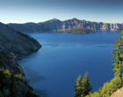 Crater Lake Photos - Crater Lake Blue by Bill Johnson