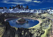 Crater Lake Prints - Crater Lake Print by Heinz Mielke
