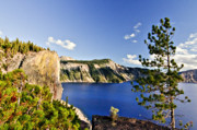 Crater Framed Prints - Crater Lake II Framed Print by Albert Seger