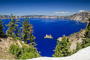 Mazama Photo Framed Prints - Crater Lake Ii Framed Print by Daniel Cummins
