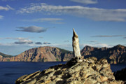Crag Photo Originals - Crater Lake in the southern Cascades of Oregon by Christine Till