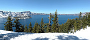 Discoveries Prints - Crater Lake national park panorama Oregon. Print by Gino Rigucci