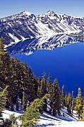 Crater Lake Prints - Crater Lake Oregon II Print by Kristen Vota
