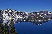 Crater Lake Prints - Crater Lake Oregon Print by Kristen Vota