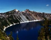 Thaw Photos - Crater Lake by Peter Piatt