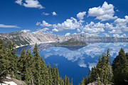 Crater Lake Reflections Print by Loree Johnson